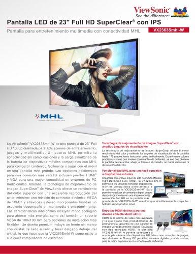 "Pantalla LED de 23"" Full HD SuperClear® con IPS"