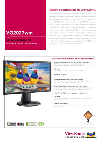 VG2027wm Multimedia performance for your business