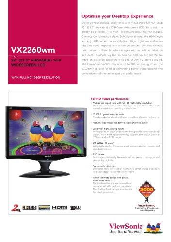 VX2260wm : 1080p HD desktop LCD monitor