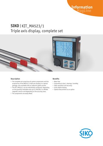 MagLine | Triple axis display, complete set