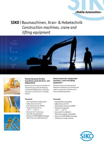 Mobile Automation - Construction machines, crane and lifting equipment