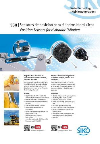 SGH | Sensores de posición para cilindros hidráulicos