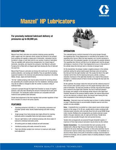 Manzel HP Lubricator