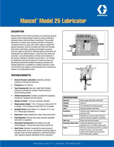 Manzel® Model 25 Lubricator