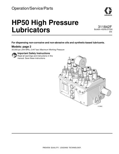 Manzel Model HP-50 High Pressure Lubricators