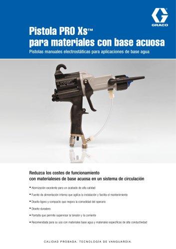 Pistola PRO Xs™ para materiales con base acuosa Pistolas manuales electrostáticas para aplicaciones de base agua