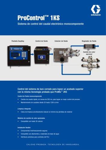 ProControl 1KS, Sistema de control del caudal electronico monocomponente