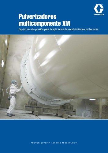 Pulverizadores multicomponente XM Equipo de alta presión para la aplicación de recubrimientos protectores
