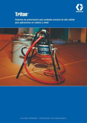 TritonTM Sistemas de pulverización para acabados precisos de alta calidad para aplicaciones en madera y metal