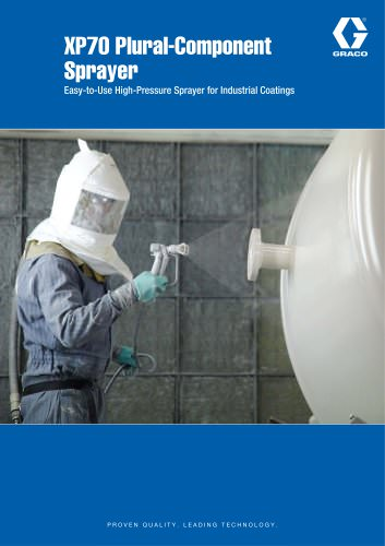 XP70 plural component sprayer for protective coatings