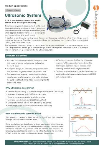 Sievmaster Ultrasonic Systems