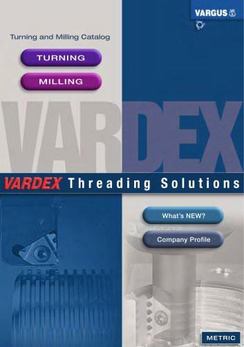 Vardex Thread Milling & Thread Turning Main Catalog - English Metric 050EE