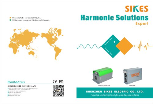 Sikes catalog for passive harmonic filter and sine wave filter