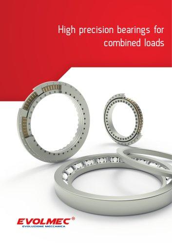 High precision bearings for combined loads - EVOLMEC - EVMU - 07.2021