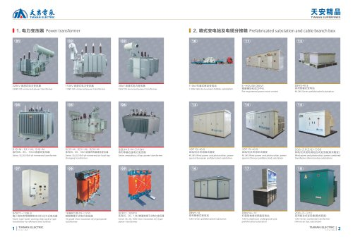 Power transformer and substation