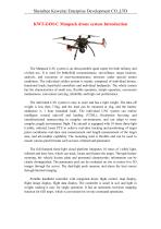 Manpack drone system technical information