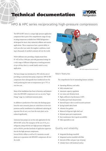 HPO & HPC series reciprocating high-pressure compressors