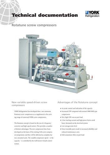 Rotatune screw compressors