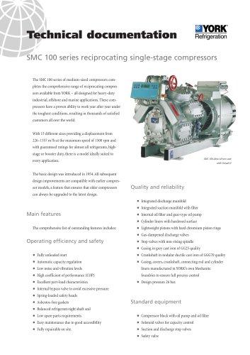 SMC series reciprocating single-stage compressors