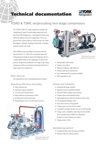 TCMO & TSMC reciprocating two-stage compressors