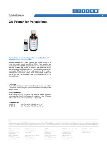 CA-Primer for Polyolefines TDS