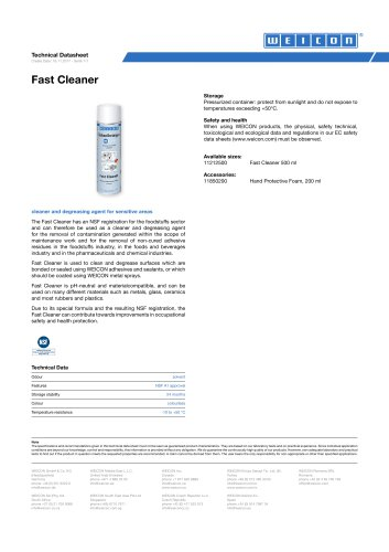 Fast Cleaner TDS