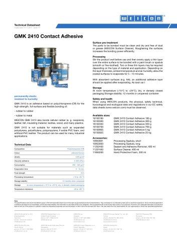 GMK 2410 Contact Adhesive TDS
