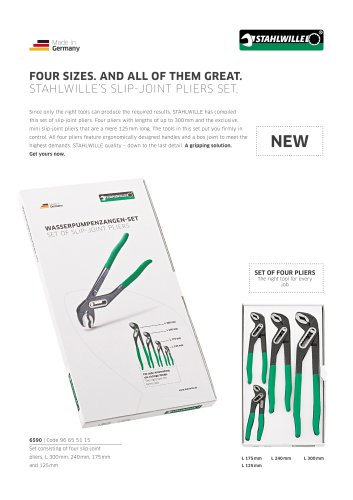 Slip-joint pliers set