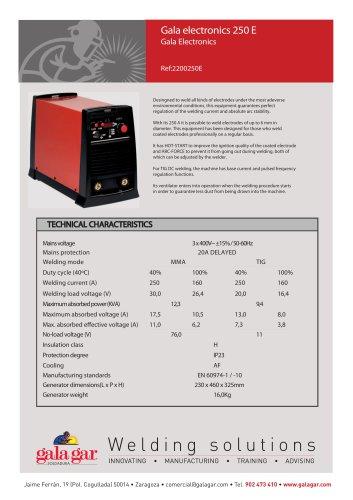 Gala electronics 250 E