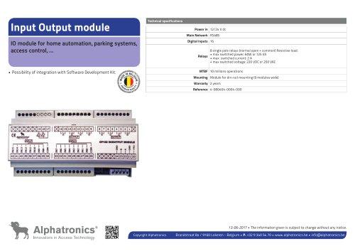 Module Input Output