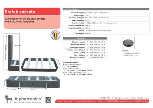 Prefab galvanized sockets