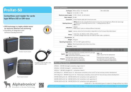 ProXat-50 RFID cardreader