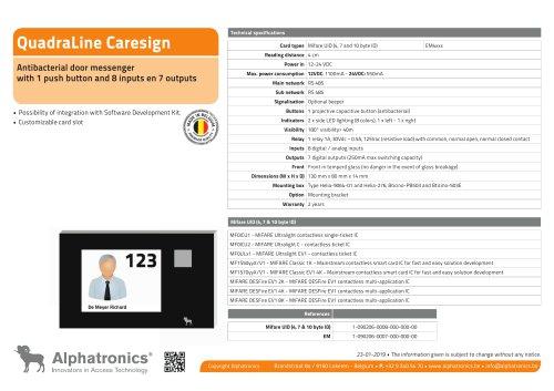 QuadraLine CareSign 1 button