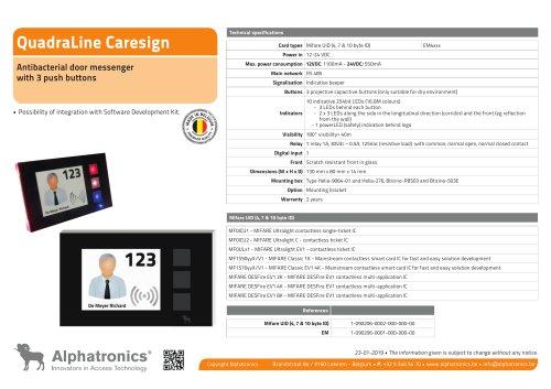 QuadraLine CareSign 3 buttons