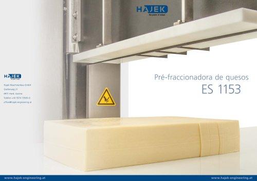 Pré-fraccionadora de quesos ES1153