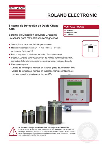 A100 Sistema de Detección de Doble Chapa