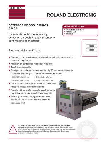 DETECTOR DE DOBLE CHAPA C100-S