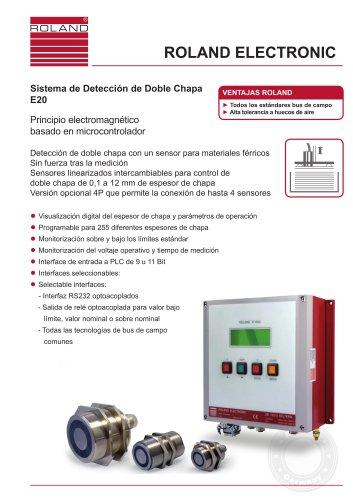E20 Sistema de Detección de Doble Chapa