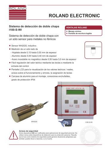 I100-S-WI Sistema de detección de doble chapa