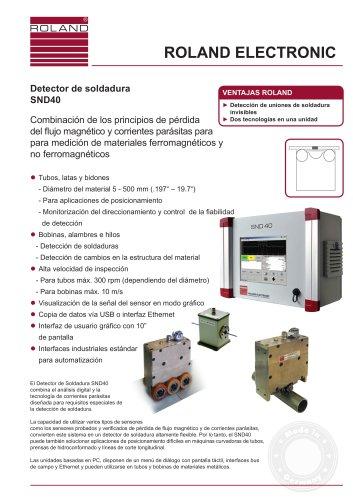 SND40 Detector de soldadura para tubos, latas y bidones