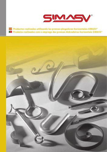 Productos realizados utilizando las prensas plegadoras horizontales SIMASV®