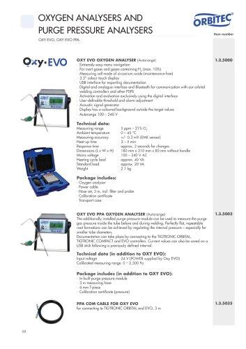 Oxy EVO data