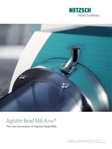 Agitator Bead Mill Alpha®