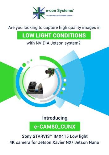 Sony STARVIS IMX415 Low light 4K Camera for Jetson Xavier NX