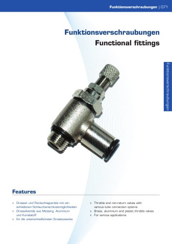 Functional fittings