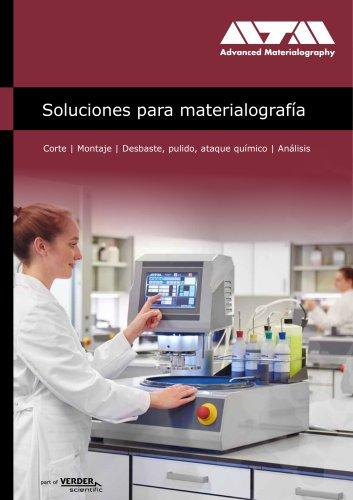 Soluciones para materialografía