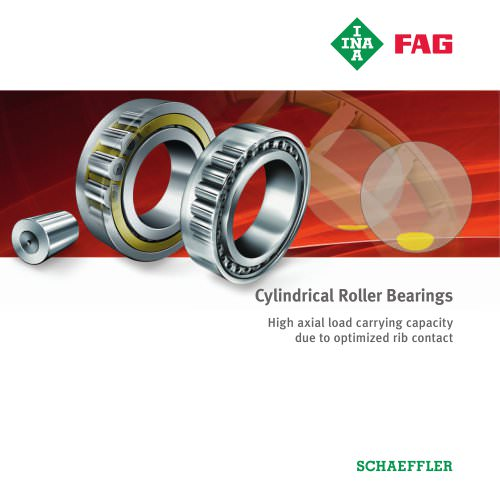 Cylindrical Roller Bearings - High axial load carrying capacity due to optimized rib contact