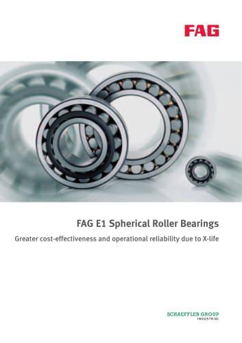 FAG E1 Spherical Roller Bearings