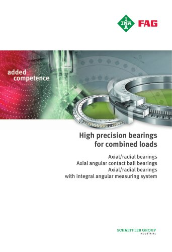 High precision bearings for combined loads