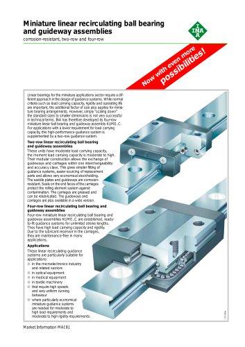 Miniature linear recirculating ball bearing and guideway assemblies (MAI 81)